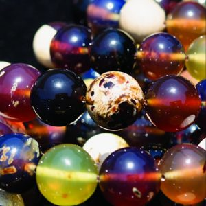 Royal Blue Sumatra Amber 24″ Bead Strand